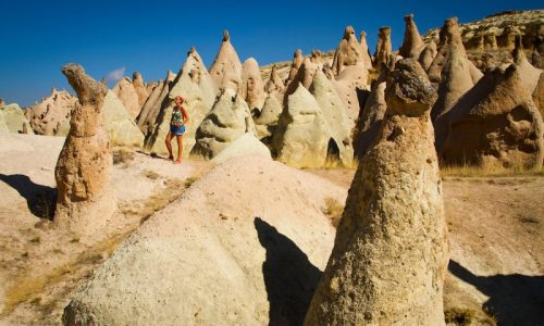 Fairy chimneys in Devrent Valley.Cappadocia, Turkey.