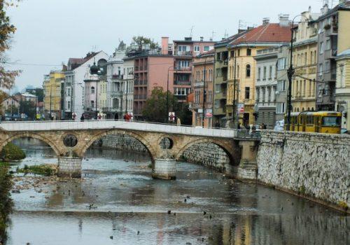 Downtown Sarajevo Bosnia